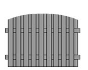 arched-double-sided-palisade-timber-fence-rotherham